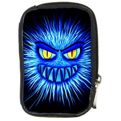 Monster Blue Attack Compact Camera Leather Case by HermanTelo