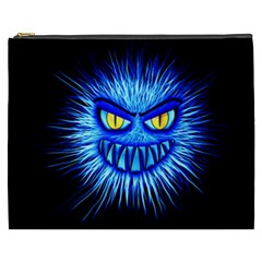 Monster Blue Attack Cosmetic Bag (xxxl) by HermanTelo