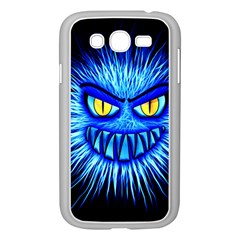 Monster Blue Attack Samsung Galaxy Grand Duos I9082 Case (white) by HermanTelo