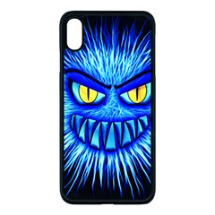 Monster Blue Attack Iphone Xs Max Seamless Case (black)