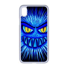 Monster Blue Attack Iphone Xr Seamless Case (white)