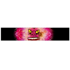 Monster Pink Eyes Aggressive Fangs Large Flano Scarf