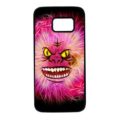 Monster Pink Eyes Aggressive Fangs Samsung Galaxy S7 Black Seamless Case by HermanTelo