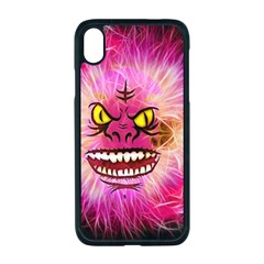 Monster Pink Eyes Aggressive Fangs Iphone Xr Seamless Case (black)