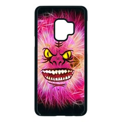 Monster Pink Eyes Aggressive Fangs Samsung Galaxy S9 Seamless Case(black)