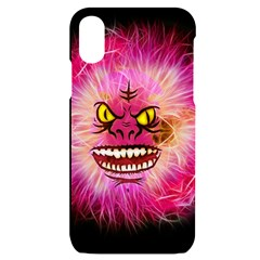 Monster Pink Eyes Aggressive Fangs Iphone X/xs Black Uv Print Case