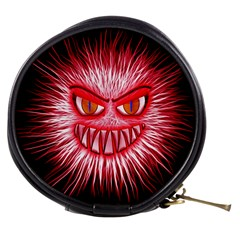 Monster Red Eyes Aggressive Fangs Mini Makeup Bag by HermanTelo