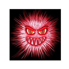 Monster Red Eyes Aggressive Fangs Small Satin Scarf (square)