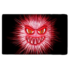 Monster Red Eyes Aggressive Fangs Apple Ipad Pro 12 9   Flip Case
