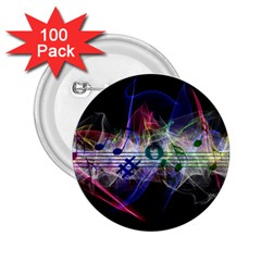 Particles Music Clef Wave 2 25  Buttons (100 Pack)  by HermanTelo