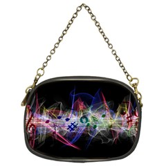 Particles Music Clef Wave Chain Purse (two Sides) by HermanTelo