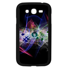 Particles Music Clef Wave Samsung Galaxy Grand Duos I9082 Case (black) by HermanTelo