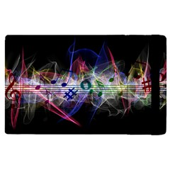 Particles Music Clef Wave Apple Ipad Mini 4 Flip Case
