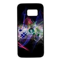 Particles Music Clef Wave Samsung Galaxy S7 Black Seamless Case by HermanTelo