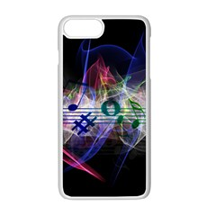 Particles Music Clef Wave Iphone 8 Plus Seamless Case (white)