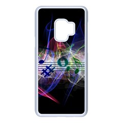 Particles Music Clef Wave Samsung Galaxy S9 Seamless Case(white)