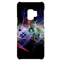Particles Music Clef Wave Samsung S9 Black Uv Print Case by HermanTelo