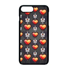 Love Heart Background Valentine Iphone 7 Plus Seamless Case (black)
