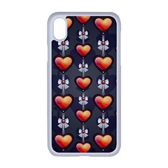 Love Heart Background Valentine Iphone Xr Seamless Case (white)
