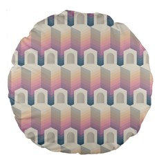 Seamless Pattern Background Entrance Large 18  Premium Round Cushions