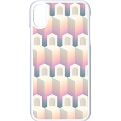 Seamless Pattern Background Entrance Iphone X Seamless Case (white)