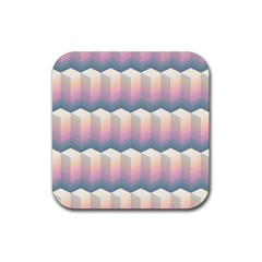 Seamless Pattern Background Block Rubber Square Coaster (4 Pack)  by HermanTelo