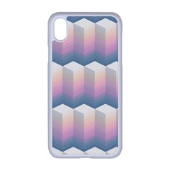 Seamless Pattern Background Block Iphone Xr Seamless Case (white)