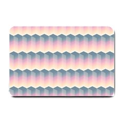 Seamless Pattern Background Block Pink Small Doormat  by HermanTelo