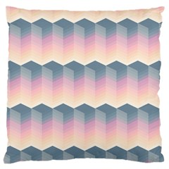 Seamless Pattern Background Block Pink Large Cushion Case (two Sides)