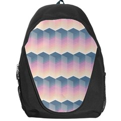 Seamless Pattern Background Block Pink Backpack Bag