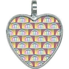 Seamless Pattern Background Abstract Heart Necklace by HermanTelo