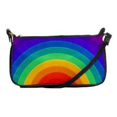 Rainbow Background Colorful Shoulder Clutch Bag by HermanTelo
