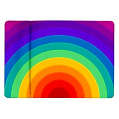 Rainbow Background Colorful Samsung Galaxy Tab 10 1  P7500 Flip Case by HermanTelo