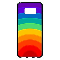 Rainbow Background Colorful Samsung Galaxy S8 Plus Black Seamless Case