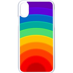 Rainbow Background Colorful Iphone X Seamless Case (white)