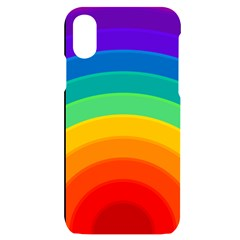 Rainbow Background Colorful Iphone X/xs Black Uv Print Case