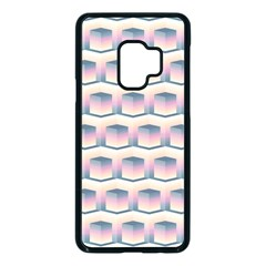 Seamless Pattern Background Cube Samsung Galaxy S9 Seamless Case(black)