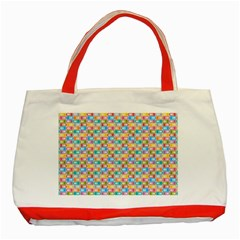 Seamless Pattern Background Abstract Rainbow Classic Tote Bag (red) by HermanTelo