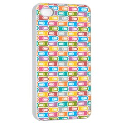 Seamless Pattern Background Abstract Rainbow Iphone 4/4s Seamless Case (white)