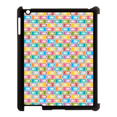 Seamless Pattern Background Abstract Rainbow Apple Ipad 3/4 Case (black) by HermanTelo