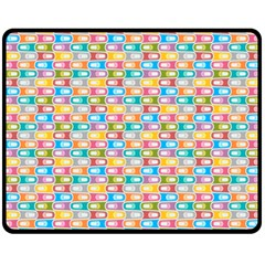Seamless Pattern Background Abstract Rainbow Double Sided Fleece Blanket (medium)  by HermanTelo