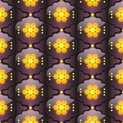 Pattern Background Yellow Bright Magic Photo Cube by HermanTelo