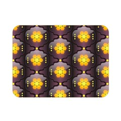 Pattern Background Yellow Bright Double Sided Flano Blanket (mini)  by HermanTelo