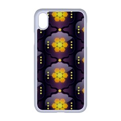 Pattern Background Yellow Bright Iphone Xr Seamless Case (white)