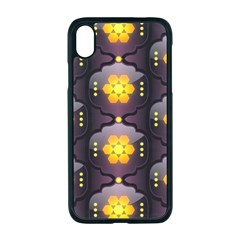 Pattern Background Yellow Bright Iphone Xr Seamless Case (black)