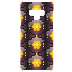 Pattern Background Yellow Bright Samsung Note 9 Black Uv Print Case  by HermanTelo