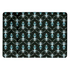 Seamless Pattern Background Black Samsung Galaxy Tab 10 1  P7500 Flip Case
