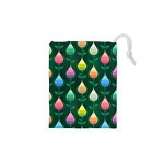 Tulips Seamless Pattern Background Drawstring Pouch (xs)