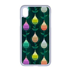 Tulips Seamless Pattern Background Iphone Xr Seamless Case (white)
