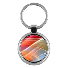 Wave Background Pattern Abstract Key Chains (round)  by HermanTelo
